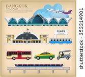 vector set of thailand...   Shutterstock .eps vector #353314901
