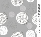 decorative pattern with...   Shutterstock .eps vector #353318201