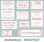 vector set of invitation cards... | Shutterstock .eps vector #353319137