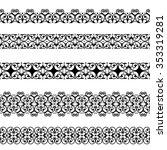 set of black borders isolated... | Shutterstock .eps vector #353319281