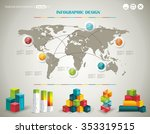 world map and information... | Shutterstock .eps vector #353319515