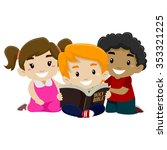 vector illustration of children ... | Shutterstock .eps vector #353321225
