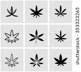 vector black marijuana icon set. | Shutterstock .eps vector #353323265