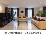 living room of a modern... | Shutterstock . vector #353324051