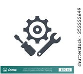 pictograph of gear | Shutterstock .eps vector #353332649