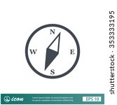 pictograph of compass | Shutterstock .eps vector #353333195