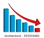 business crisis   graph down ...   Shutterstock .eps vector #353333681