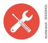 repair icon. flat design style.
