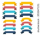 ribbon icons | Shutterstock .eps vector #353347151
