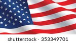 american flag flowing in the... | Shutterstock .eps vector #353349701