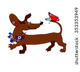Vector Image Dachshund With A...