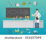chemical laboratory science and ...   Shutterstock .eps vector #353357099