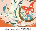retro butterfly   Shutterstock . vector #3533581