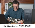 male computer engineer with... | Shutterstock . vector #353358821