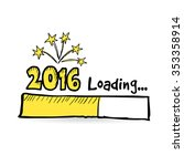 2016 loading bar with fireworks ...