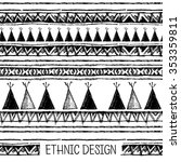 ethnic seamless pattern in... | Shutterstock .eps vector #353359811
