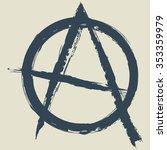anarchy symbol.vector... | Shutterstock .eps vector #353359979