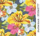 seamless flower pattern. floral ... | Shutterstock . vector #353363777