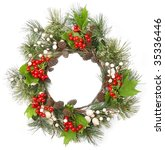 christmas door decoration | Shutterstock . vector #35336446