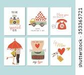 valentine's day creative hand... | Shutterstock .eps vector #353365721