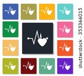 music cardiogram icon | Shutterstock .eps vector #353366015