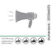 megaphone  loudspeaker icon.... | Shutterstock .eps vector #353366051