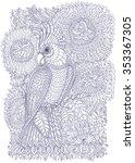 exotic bird fantastic flowers ... | Shutterstock .eps vector #353367305