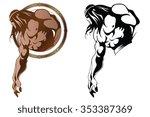 stock illustration. ancient... | Shutterstock .eps vector #353387369