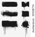grunge design elements. every... | Shutterstock .eps vector #35338774