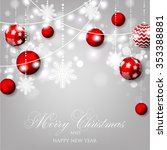 christmas invitation with... | Shutterstock .eps vector #353388881
