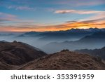 colorful sunlight behind... | Shutterstock . vector #353391959