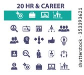 hr  career  job  icons  signs... | Shutterstock .eps vector #353393621