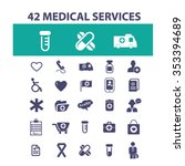 medical and health care  icons  ... | Shutterstock .eps vector #353394689