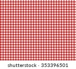 red checkered picnic tablecloth | Shutterstock .eps vector #353396501