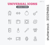 universal icons. fitness... | Shutterstock . vector #353396861