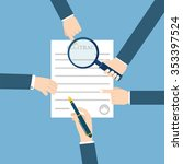 preparation business contract.   Shutterstock . vector #353397524