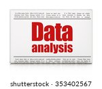 data concept  newspaper... | Shutterstock . vector #353402567