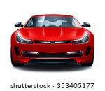 red sporty car   front view | Shutterstock . vector #353405177