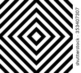 centric squares black and white ... | Shutterstock .eps vector #353407307
