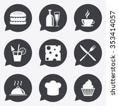 food  drink icons. coffee and... | Shutterstock . vector #353414057