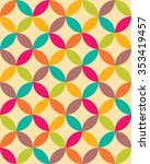 abstract geometric hipster... | Shutterstock .eps vector #353419457