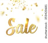 holiday sale card. gold...   Shutterstock .eps vector #353420681