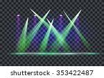 vector light effect spotlight... | Shutterstock .eps vector #353422487