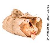 fresh chicken packaging paper.... | Shutterstock . vector #353422781