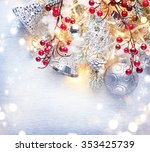 christmas holiday background... | Shutterstock . vector #353425739