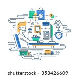 illustration of modern line... | Shutterstock . vector #353426609