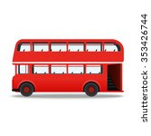 london red bus  illustration... | Shutterstock . vector #353426744