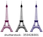 eiffel tower. isolated object.... | Shutterstock .eps vector #353428301