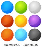 colorful starburst  badge... | Shutterstock .eps vector #353428355