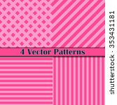 Four Vector Pattern Line Pink